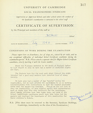 Certificate of Supervision Archives