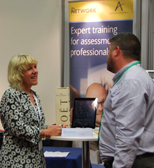 AELP 2016 blog The Network Sally with delegate and champagne NEW