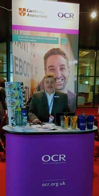 David Summers UCAS conference 2018 OCR exhibition stand