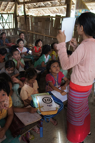 Working with Refugees - English Class - Thai Myanmar border