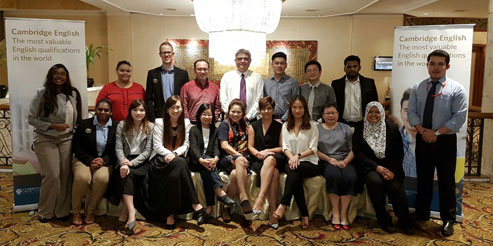 Magnification in Malaysia tea meeting group image