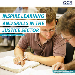 OCR Offender Learning newsletter front cover image
