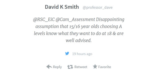 Ellie chemistry maths blog image Disappointing assumption prof dave tweet