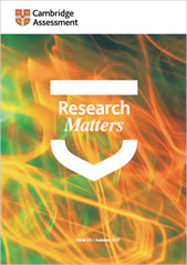Research matters 26 cover - Image