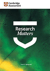 Research Matters 27 - Spring 2019