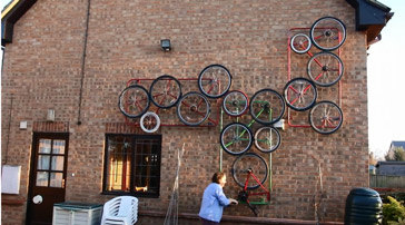 Margaret Kerry bicycle sculpture - image