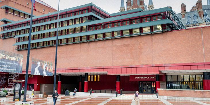 The British Library conference centre entrance