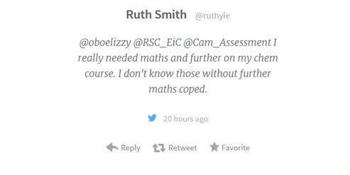 Ellie chemistry maths blog image Dont know how coped tweet