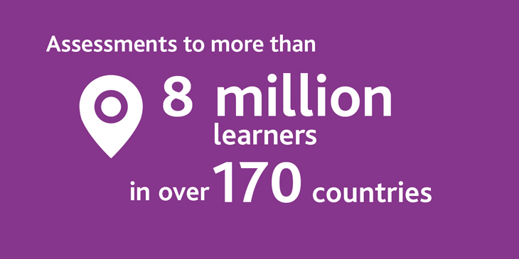 8 million learners in 170 countries