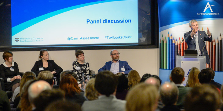 Panel discussion at textbooks event